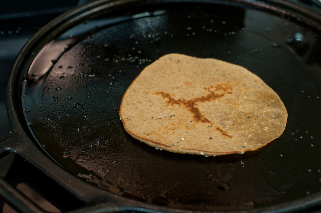 Cook until both sides are gently browned.